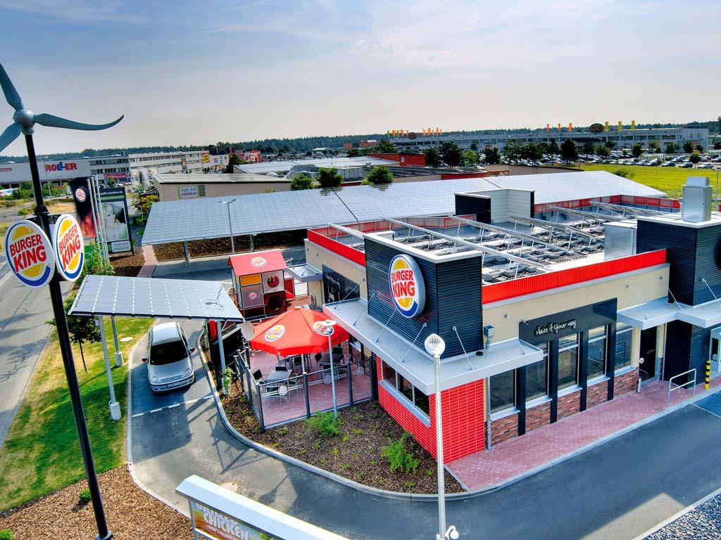 Luftaufnahme des Burger King Restaurant in Waghäusel