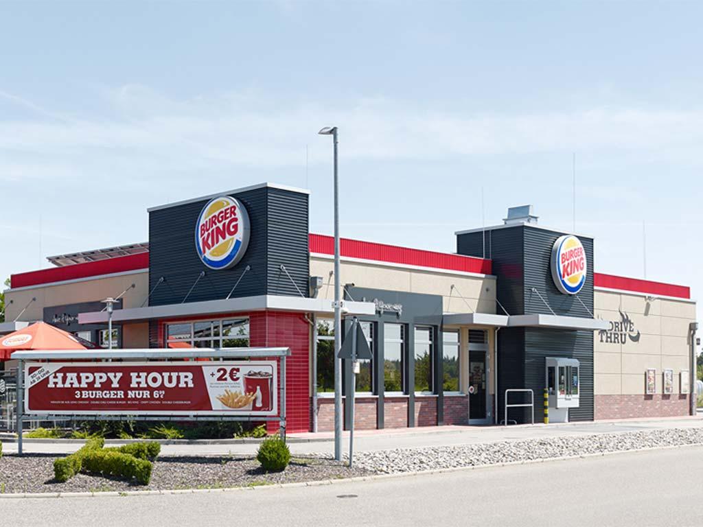 Außenaufnahmen des Burger King Restaurant in Waghäusel
