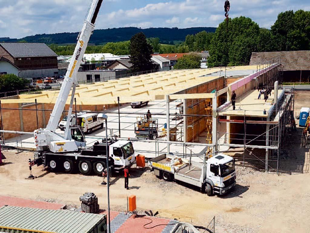 Baustelle einer LIDL-Filiale in Frankenberg