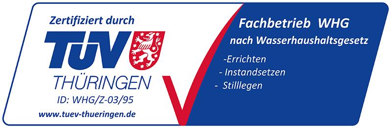 TÜV-Zertifikat – Fachbetrieb nach WHG